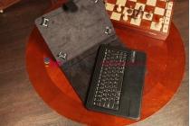 Чехол со съёмной Bluetooth-клавиатурой для планшета Acer Iconia Tab A1-810/A1-811 черный кожаный + гарантия