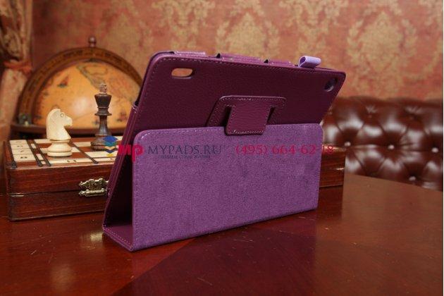 Фирменный чехол для Acer Iconia Tab A1-811 фиолетовый кожаный