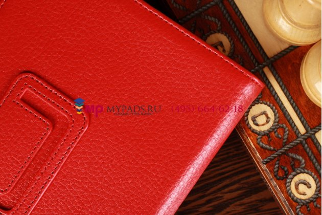 Фирменный чехол-обложка для Acer Iconia Tab B1-A71 красный кожаный