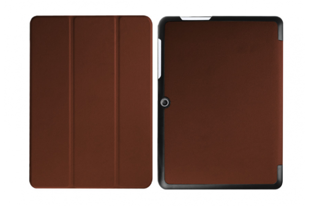 """Фирменный умный тонкий чехол для Acer Iconia One B3-A20 10.1"""" """"Il Sottile"""" коричневый пластиковый"""