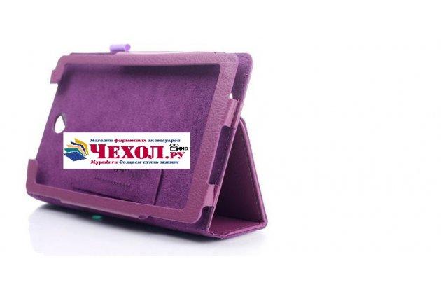 "Фирменный чехол-футляр-книжка для Acer Iconia Tab One X 7 B1-740/B1-741 7.0"" фиолетовый кожаный"