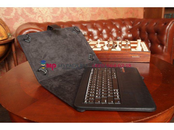 Чехол со съёмной Bluetooth-клавиатурой для планшета Acer Iconia Tab W500/W501 черный кожаный + гарантия..