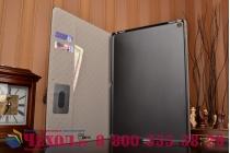 """Фирменный чехол для iPad Pro 12.9"""" лаковая кожа крокодила черный"""