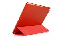 """Фирменный умный чехол самый тонкий в мире для планшета iPad Pro 12.9"""" """"Il Sottile"""" красный кожаный"""