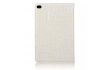 """Фирменный чехол для iPad Pro 12.9"""" лаковая кожа крокодила белый"""