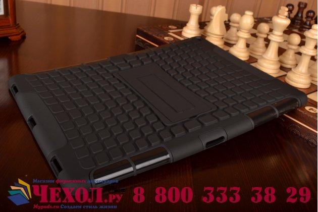 """Противоударный усиленный ударопрочный фирменный чехол-бампер-пенал для  iPad Pro 12.9"""" черный"""