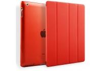 Чехол-обложка для iPad2/3/4 SLIM красный кожаный