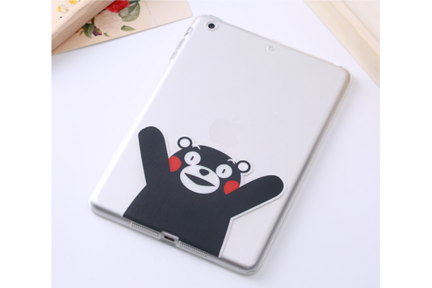 """Фирменная ультра-тонкая полимерная из мягкого качественного силикона задняя панель-чехол-накладка для iPad Pro 9.7"""" тематика """"Медведь"""""""
