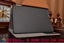 Фирменный чехол для iPad Mini 4 лаковая кожа крокодила коричневый