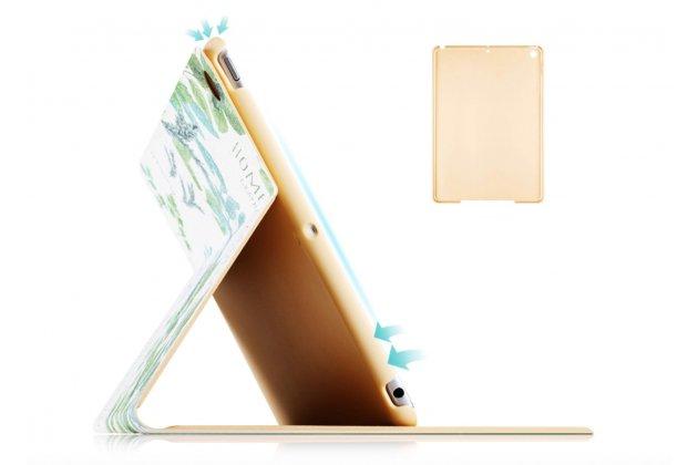 """Чехол для Apple iPad 2/3/4 """"тематика цветок"""" кожаный"""