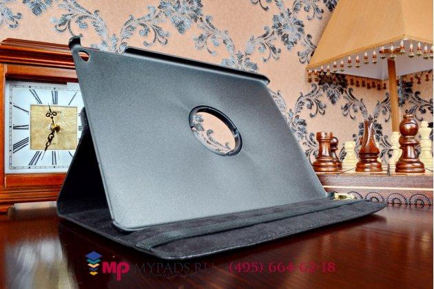 Чехол обложка для iPad Air 2 поворотный роторный оборотный черный кожаный