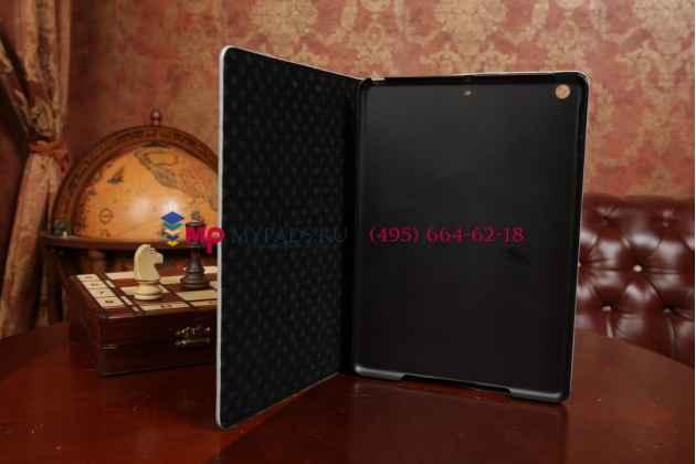 Лаковая блестящая кожа под крокодила чехол-футляр для iPad Air серый
