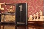 """Фирменный чехол-книжка из качественной водоотталкивающей импортной кожи на жёсткой металлической основе для Asus Zenfone Go ZB500KL/ZB500KG 5.0"""" черный"""