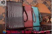Фирменный роскошный эксклюзивный чехол-клатч/портмоне/сумочка/кошелек из лаковой кожи крокодила для планшетов Acer Iconia Tab A510/A511. Только в нашем магазине. Количество ограничено.
