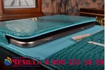 Фирменный роскошный эксклюзивный чехол-клатч/портмоне/сумочка/кошелек из лаковой кожи крокодила для планшетов Acer Iconia One 7 B1-760HD. Только в нашем магазине. Количество ограничено.