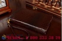Фирменный роскошный эксклюзивный чехол-клатч/портмоне/сумочка/кошелек из лаковой кожи крокодила для планшетов Acer Iconia One 8 B1-830. Только в нашем магазине. Количество ограничено.