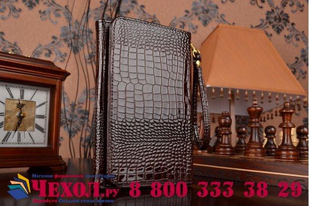 Фирменный роскошный эксклюзивный чехол-клатч/портмоне/сумочка/кошелек из лаковой кожи крокодила для планшетов Acer Iconia Tab W500/W501. Только в нашем магазине. Количество ограничено.