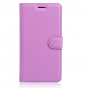 """Фирменный чехол-книжка из качественной импортной кожи с мульти-подставкой застёжкой и визитницей для Lenovo Vibe C (A2020 / A2020a40 Dual Sim ) 5.0"""" фиолетовый"""