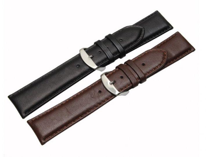 Фирменный сменный кожаный ремешок для умных смарт-часов Motorola Moto 360 2 42mm из качественной импортной кож..