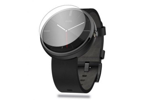 Фирменное защитное закалённое противоударное стекло премиум-класса из качественного японского материала с олеофобным покрытием для часов Motorola Moto 360 2 42mm