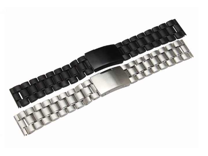 Фирменный сменный металлический ремешок для умных смарт-часов Motorola Moto 360 2 46mm из нержавеющей стали с ..