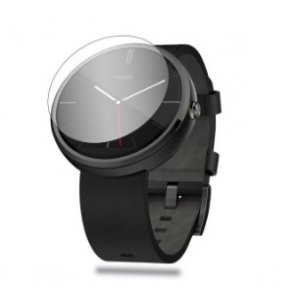 Фирменное защитное закалённое противоударное стекло премиум-класса из качественного японского материала с олеофобным покрытием для часов Motorola Moto 360 2 46mm