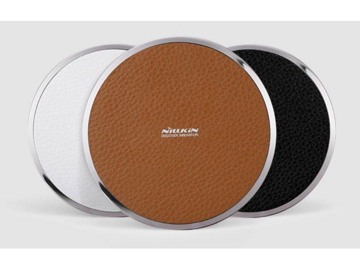 Беспроводная зарядка (QI) на телефон OPPO Mirror 5s с отделкой под кожу и LED-подсветкой. Продаётся комплектом..