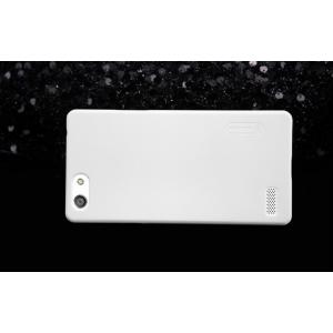 """Фирменная задняя панель-крышка-накладка из тончайшего и прочного пластика для Oppo Neo 7"""" белая"""