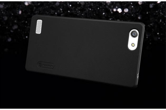 """Фирменная задняя панель-крышка-накладка из тончайшего и прочного пластика для Oppo Neo 7"""" черная"""