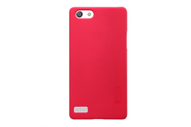 """Фирменная задняя панель-крышка-накладка из тончайшего и прочного пластика для Oppo Neo 7"""" красная"""