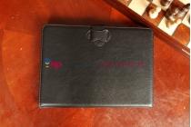 Чехол со съёмной Bluetooth-клавиатурой для планшетов с диагональю 10.1 дюймов черный кожаный + гарантия