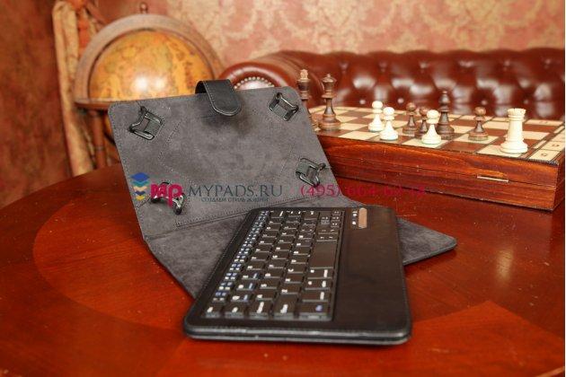 Чехол со съёмной Bluetooth-клавиатурой для планшетов с диагональю 7.0 дюймов черный кожаный + гарантия