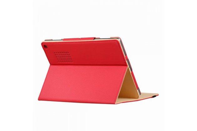 Фирменный оригинальный чехол для Acer Aspire Switch 12 Alpha (NT.LCDER.008) с отделением под клавиатуру красный кожаный