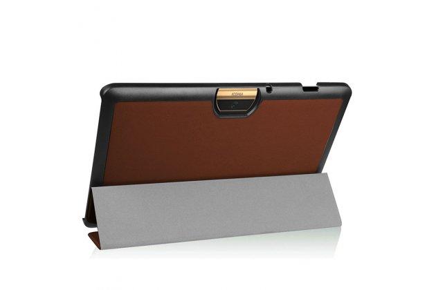 Фирменный умный чехол самый тонкий в мире для Acer Iconia One 10 B3-A30 iL Sottile коричневый пластиковый Италия