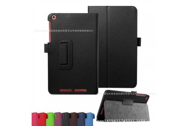 Фирменный чехол-обложка с подставкой для Acer Iconia One B1-850 (NT.LC4EE.002) черный кожаный