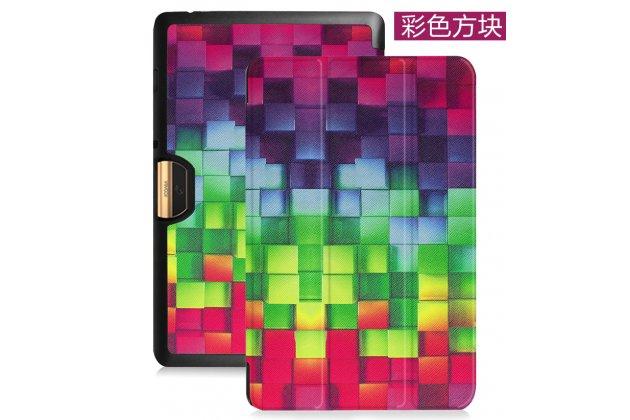 Фирменный эксклюзивный необычный чехол-футляр для Acer Iconia Tab 10 A3-A40 2016  тематика Яркая мозаика