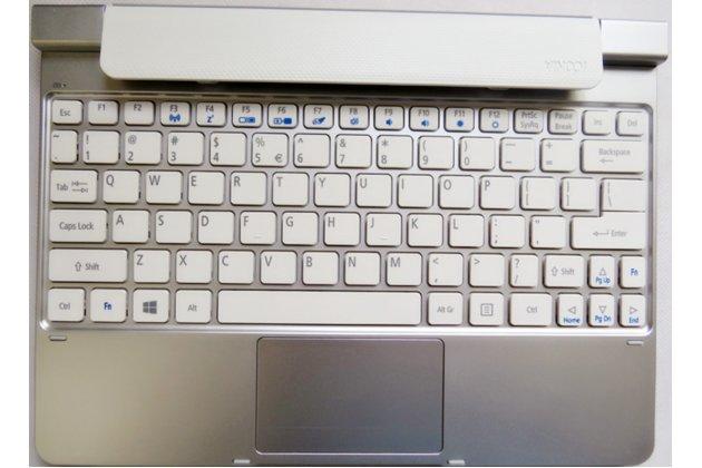 Фирменная оригинальная съемная клавиатура/док-станция/база для планшета Acer Iconia Tab W5/W510/W511 серебристого цвета + гарантия + русские клавиши