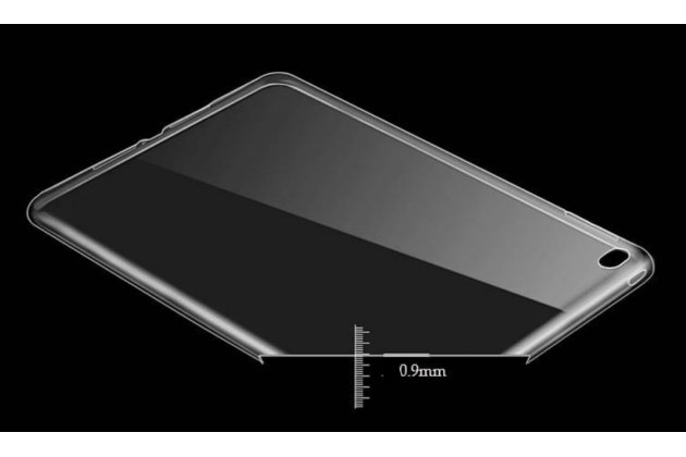 Фирменная ультра-тонкая полимерная задняя панель-чехол-накладка из силикона для iPad Pro 12.9 полупрозрачная чернвя