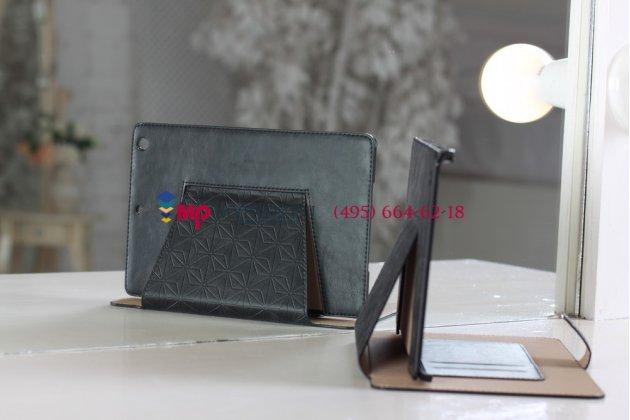 Чехол-обложка для iPad Mini с застежкой кожаный черный